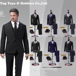 1/6 Scala Gentleman Suit Set Poptoys X28 X27 Avanzata Readymade Vestiti in Stile Occidentale di Sesso Maschile Vestito di Regolazione 12 di Sesso Maschile figura