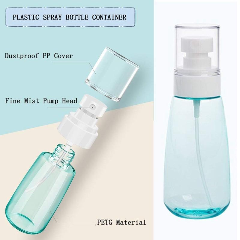 10 PCS Portable Refillable Plastic Fine Mist Perfume Spray Bottle Transparent Empty Spray Sprayer Bottle, 100Ml-3