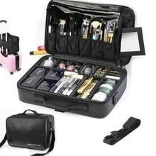 جديد 2019 جودة عالية المهنية منظم تجميل فارغ التجميل حقيبة السفر سعة كبيرة حقيبة التخزين حقائب