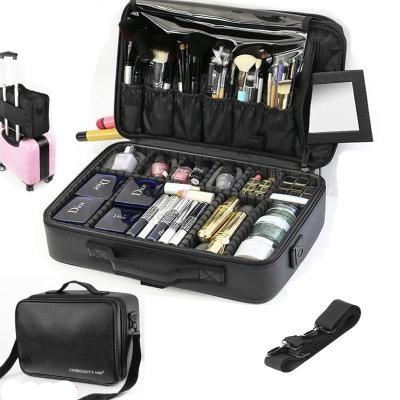 New 2019High Quality Professional Empty Makeup Organizer  Cosmetic Case Travel Large Capacity Storage Bag Suitcases