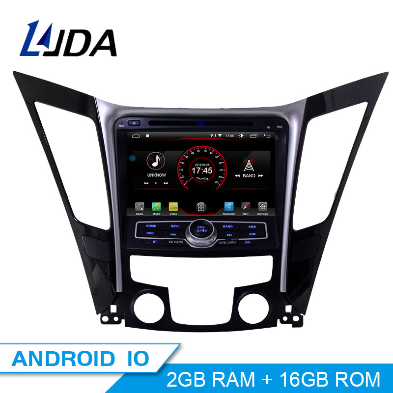 LJDA Android <font><b>10</b></font> Car dvd player for HYUNDAI SONATA 2012 2013 2014 2Din Car Radio gps navigation stereo multimedia WIFI autoaudio image