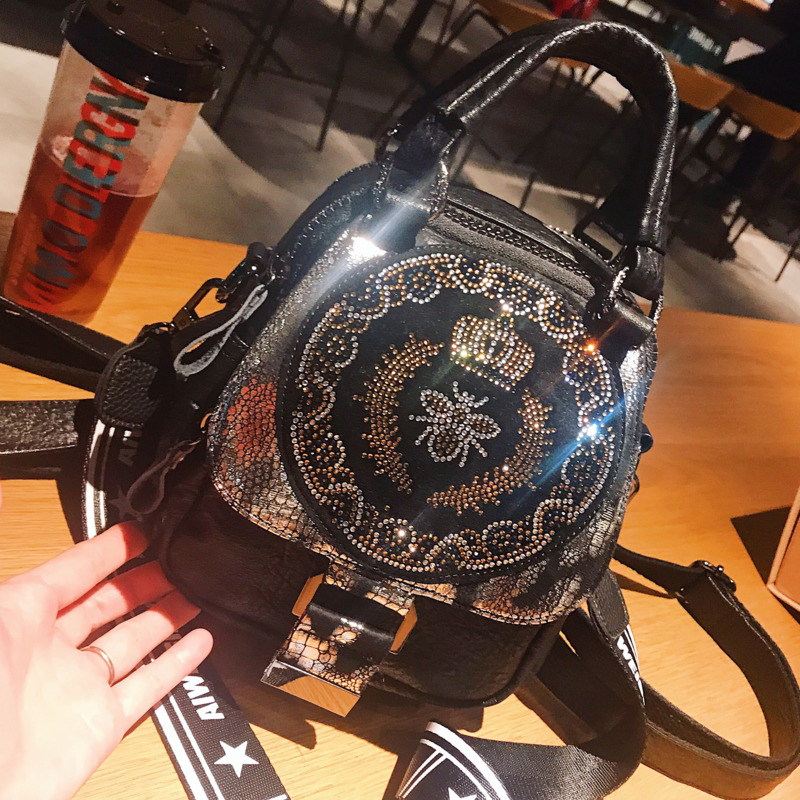 2020 Brands Designer Women Shoulder Bag Fashion Luxury Rivet Ladies Leather Handbags Rhinestone Designer Bee Crossbody Bags