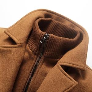 Image 4 - Abrigo de invierno para hombre, abrigos de lana gruesos a prueba de viento con cuello doble, prendas de vestir, chaqueta de invierno, Parka gruesa y cálida, ropa 5XL