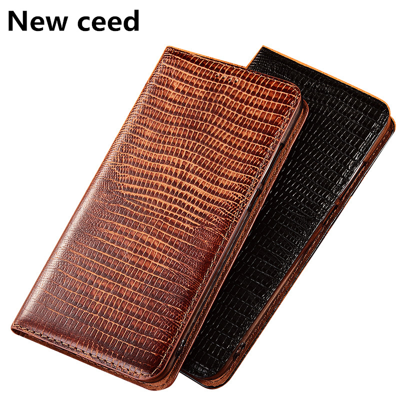 Genuine Leather Phone Case Credit Card Slot Holder For <font><b>Samsung</b></font> Galaxy A9 Pro <font><b>A9100</b></font>/<font><b>Samsung</b></font> Galaxy C9 Pro Magnetic Flip Case Capa image