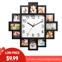 DIY Wall Clock Modern Design Photo Frame Clocks Price Reduction Promotion