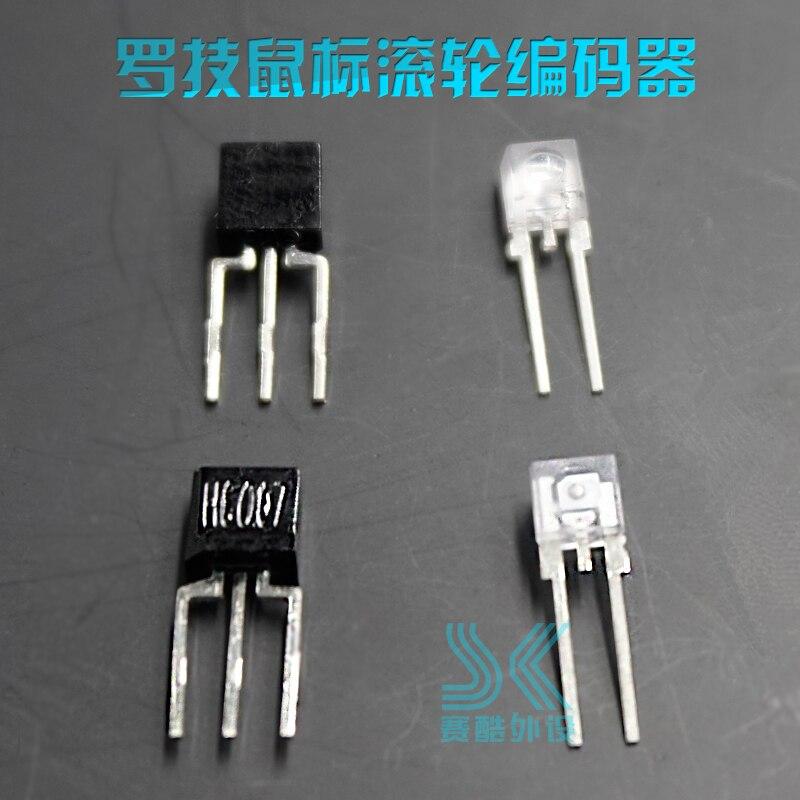 1Pair Mouse Optical Encoder For Logitech G300 S G302 G9X G500 G600 G602 G402 G700 G900 G903 M325 M500 M557 M705 M905 Anywhere2s