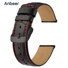 Anbeer 革時計バンド 18 ミリメートル 20 ミリメートル 22 ミリメートルワニ口エンボス · ストラップ男性女性ブレスレットストラップのドレススタイルスマートウォッチ