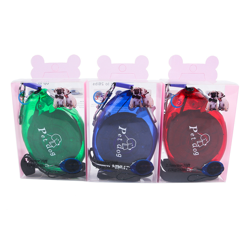 Small And Medium-sized Dogs Pet Traction Rope Dog Lanyard Dog Chain Dog Neck Ring Automatic Stretching Dog Hand Holding Rope
