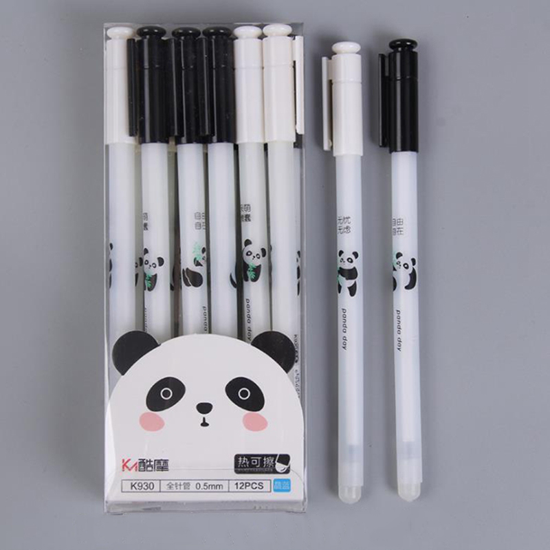 3Pcs/Set Cute Panda Erasable Pen 0.5mm Blue Ink Magic Gel Pen For School Office Writing Supply Kawaii Exam Spare Stationery