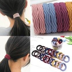 20 pcs/Lot élastique cheveux élastique élastique accessoires chouchous cravate emballé dans le baril