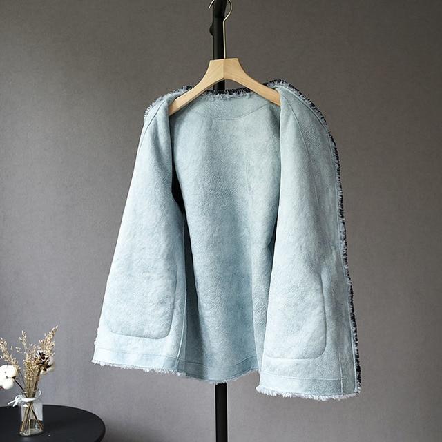 Blouson de fourrure véritable pour Femme | 100%, veste en laine, Manteau dhiver, vêtements pour femmes 2020 mouton, Shearling, hauts, L19068 YY1835