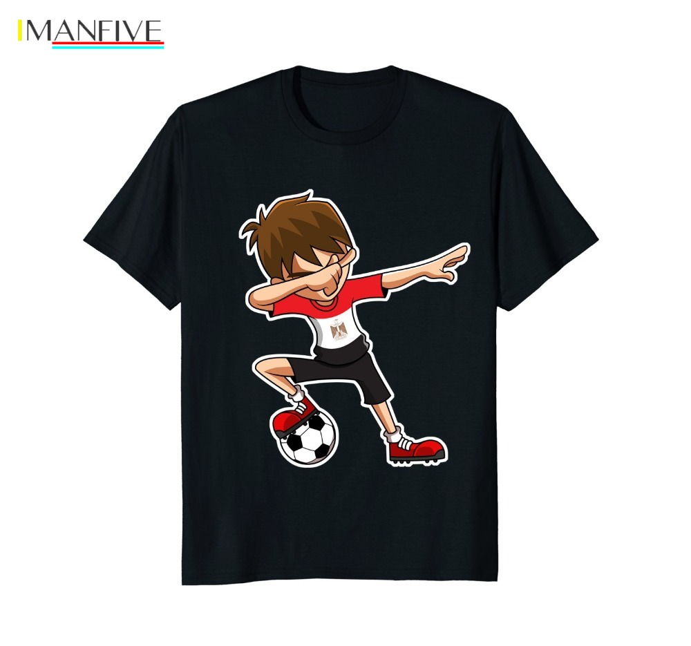 Tshirt Homme 2019 New Casual Short Sleeved Men Soccere Shirt for Boys Dabbing Egypt Flag Jersey Gifts Tee Harajuku Tee Shirts in T Shirts from Men 39 s Clothing
