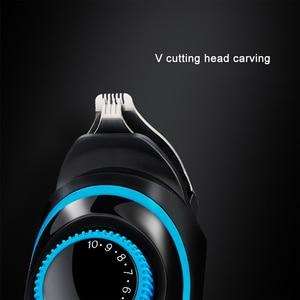 Image 3 - 5 1でバリカン液晶デジタルディスプレイ電動コードレス鼻耳ひげ充電式シェーバーカッター