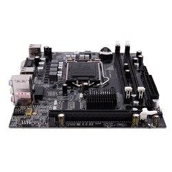H55 LGA 1156 toma de la placa base LGA 1156 Mini escritorio ATX imagen USB2.0 SATA2.0 doble canal 16G DDR3 1600 para Intel