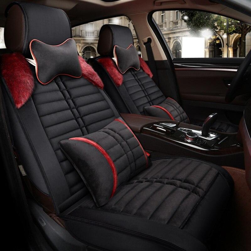 Housse de siège de voiture chaude housse de coussin d'hiver pour lada 2107 2110 2114 grant kalina largus priora samara vesta xray