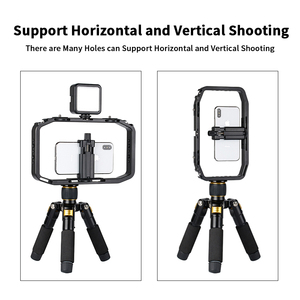 Image 4 - Universal DSLR Gopro Smartphone Handheld Video Rig Vertical Shooting Rig for iPhone XS 11 Pro Max X 8 Gopro 5 6 7 8  DSLR Camera
