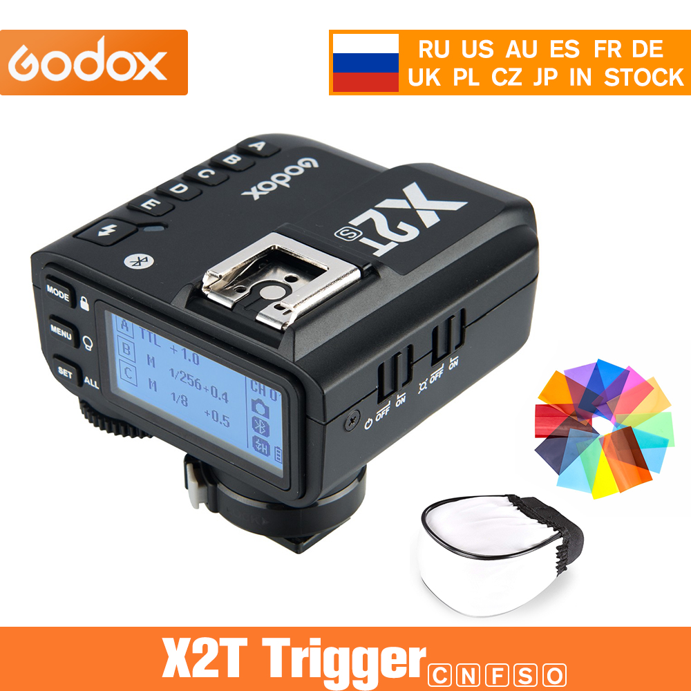 Godox X2T-C X2T-N X2T-S X2T -F 2,4G TTL HSS передатчик беспроводной триггер вспышки для Canon Nikon Sony Fuji Olympus