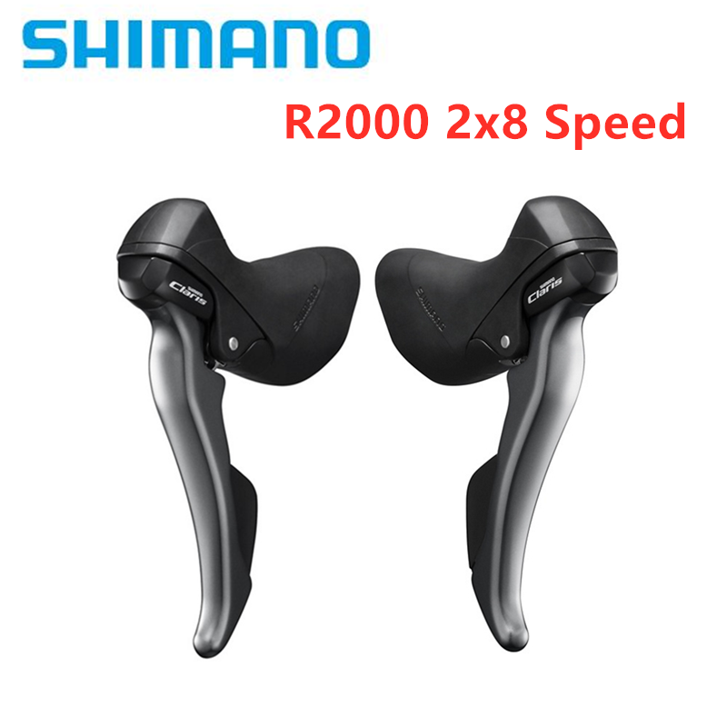 2*8 Speed Shifters Set Brake Lever Derailleur Road Bike for Claris Sora Black