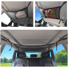 Multifunctional car storage bag can expand the top of debris toy mesh