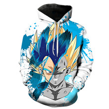 New Dragon Ball Z Verão dos homens Hoodies Impressão 3D Zamasu Jiren Dragonball Vegeta Super Saiyan Kid Preto Camisola Do Hoodie s-6XL(China)