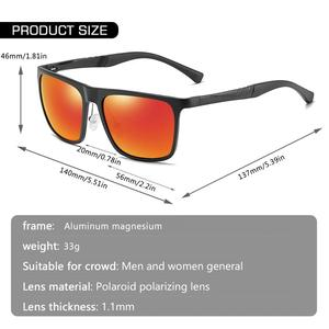 Image 4 - AOFLY BRAND DESIGN Aluminum magnesium Polarized Sunglasses Men 2020 Fashion Square Driving Fishing Mirror Sun glasses Male UV400