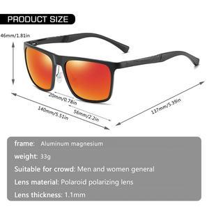 Image 4 - AOFLY ماركة تصميم الألومنيوم المغنيسيوم الاستقطاب النظارات الشمسية الرجال 2020 موضة ساحة القيادة الصيد مرآة نظارات شمسية الذكور UV400