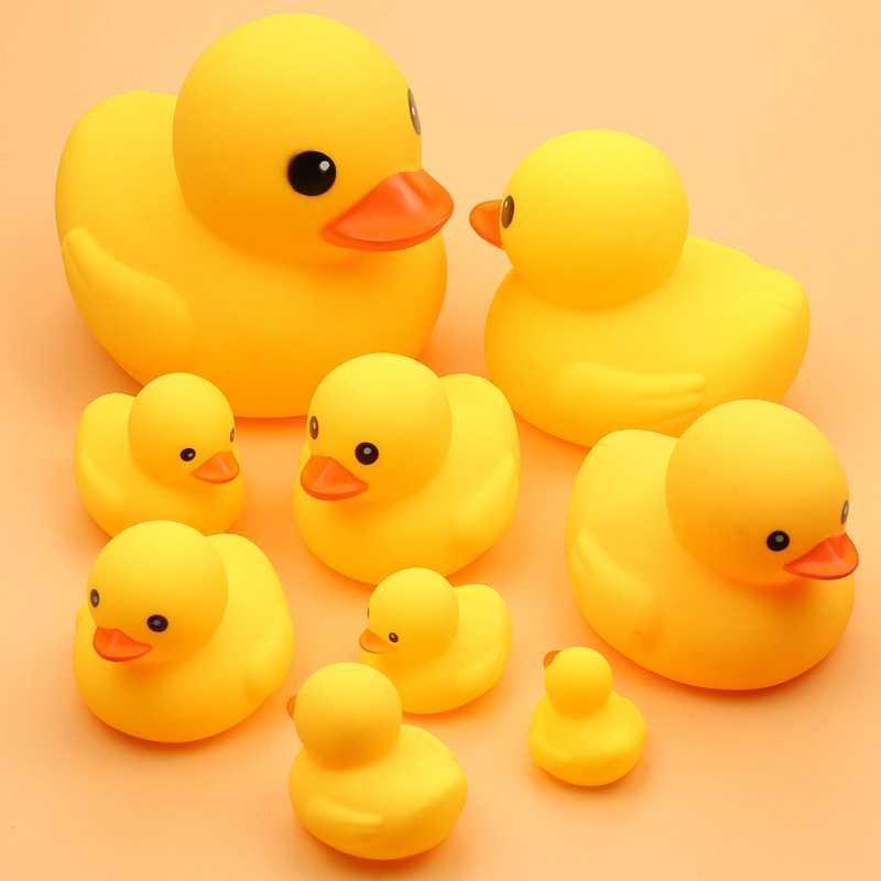 Pato de caucho de juguete para baño de 1 Uds., pato de juguete amarillo para ducha de bebé, juguetes de baño para niños y bebés, regalo de cumpleaños, juguete clásico para niños y niñas