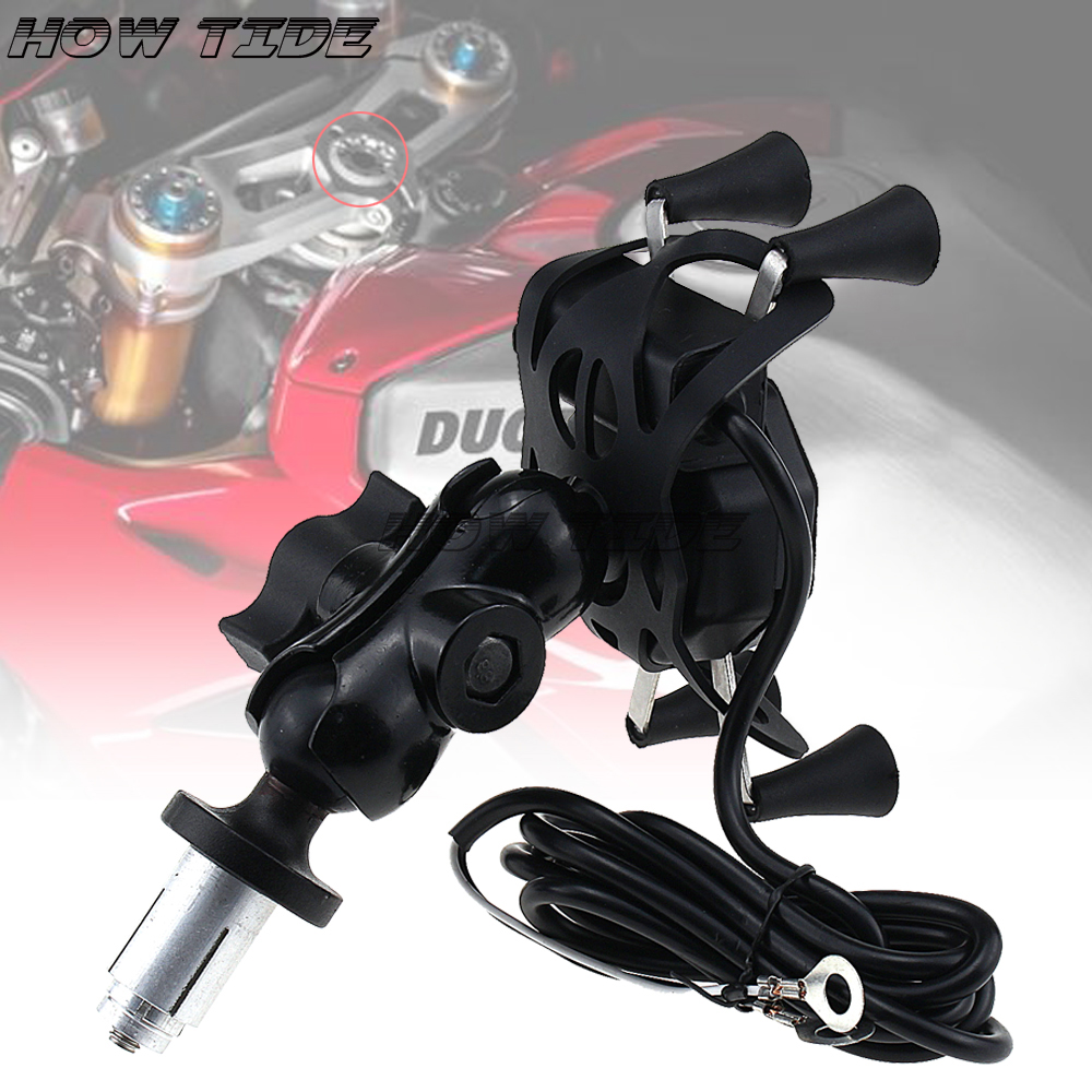 <font><b>For</b></font> <font><b>HONDA</b></font> CBR600 F4 F4i CB400 VTEC CB1000 <font><b>CBR</b></font> 600RR 1000RR Motorcycle <font><b>GPS</b></font> Navigation Frame Mobile Phone Mount Bracket image