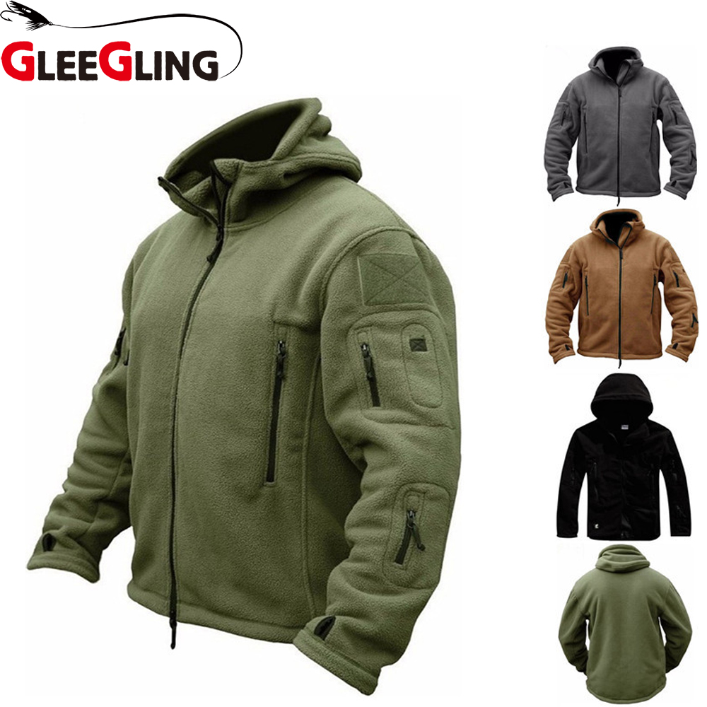 GLEEGLING New Winer Fishing Jackets CamouflageTactical Shirts Plus Size S-4XL  Men Sportwears Hiking Trekking Fishing Shirts