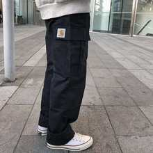 Men's Cotton Loose Pants Big Pocket Work Clothes High Quality Fashion Brand Clothing New In 2021