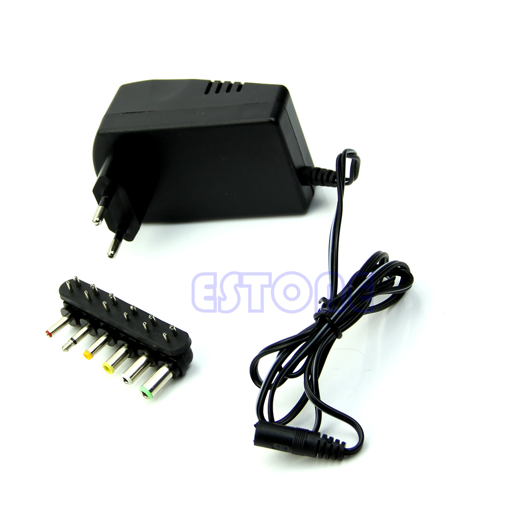 Universal EU AC/<font><b>DC</b></font> Adaptor Plug Power Supply 3V <font><b>4.5V</b></font> 5V 6V 7.5V 12V <font><b>DC</b></font> Charger Drop Ship Support image