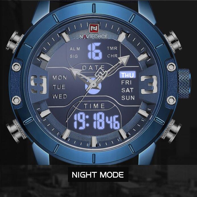 Новые мужские часы NAVIFORCE, роскошные брендовые водонепроницаемые кварцевые мужские Аналоговые спортивные цифровые часы Relogio Masculino|Спортивные часы|   | АлиЭкспресс