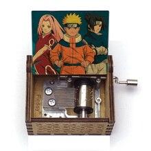 Music-Box Sadness Christmas-Gift Village Anime Sorrow Hand-Wood Kakashi Fans Clan Sharingan-Print