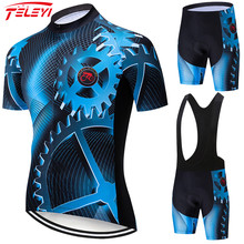 Teleyi engrenagem conjunto camisa de ciclismo da bicicleta verão conjunto camisa ciclismo estrada jerseys mtb bicicleta wear respirável ciclismo roupas