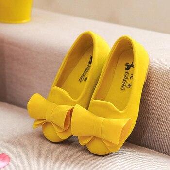 Zapatos para niños, zapatos para niñas con lazo, zapatos de vestir para niñas, fiesta de zapatos Mary Jane plana de princesa