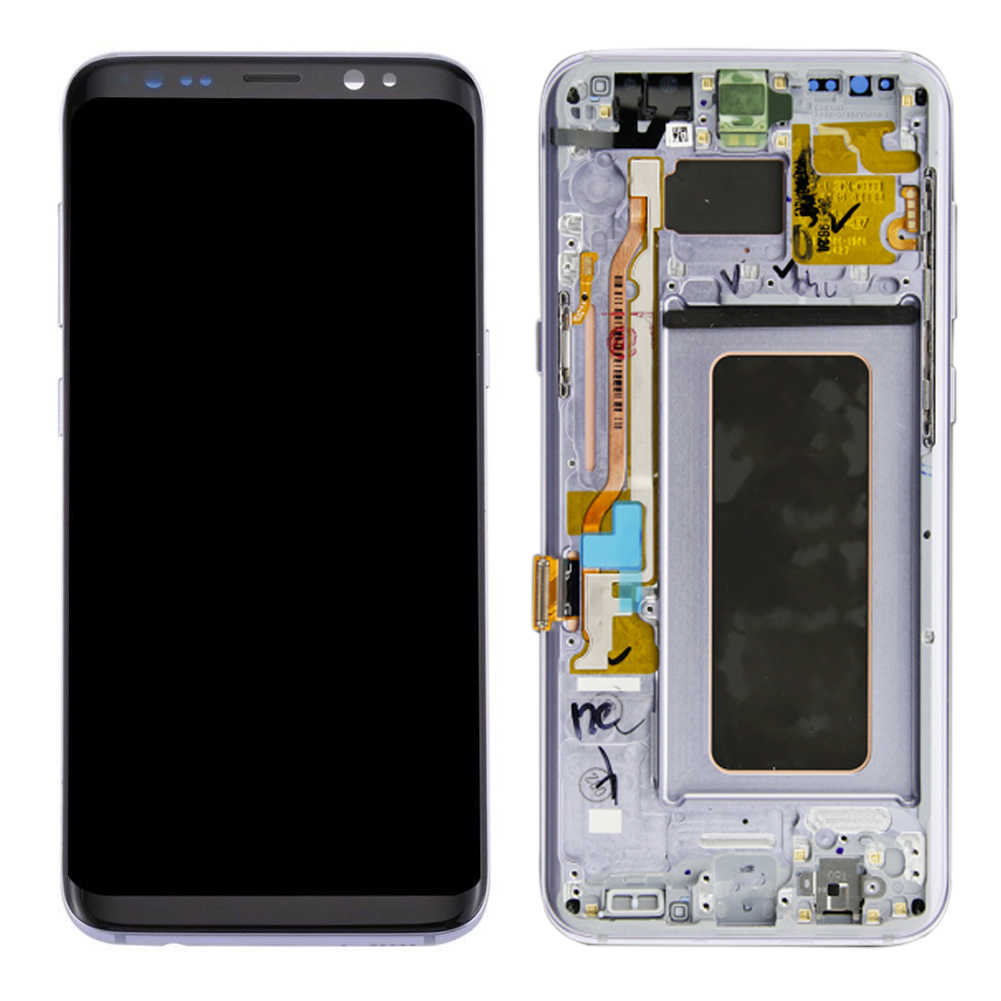 شاشات lcd لسامسونج غالاكسي S8 شاشة الكريستال السائل S8 زائد G950 G950F G955fd G955F G955 مع حرق الظل مع شاشة تعمل باللمس رقمنة