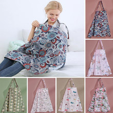 Nursing Cover Breastfeeding Cover Baby Infant Breathable Cotton Muslin Nursing Cloth Feeding Cover Mommy Apron Mum Shawl Clothes