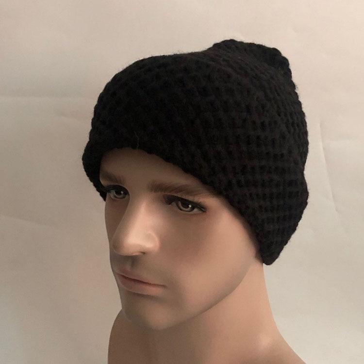 Купить повседневная новая зимняя шапка одноцветная шерстяная теплая