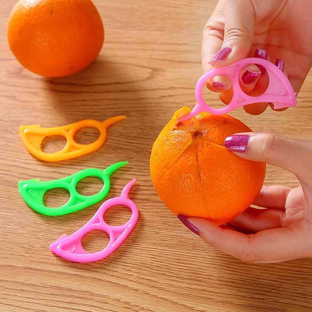 1 قطعة مقشرة برتقال الإبداعية المنزل مطبخ فنجر نوع فتح مقشرة برتقال أدوات المطبخ المنزلية المحمولة حجم
