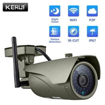 KERUI Wireless Outdoor Waterproof 3MP Wifi IP Camera for wifi GSM Home Security Alarm System Wireless App Control Full HD Camera