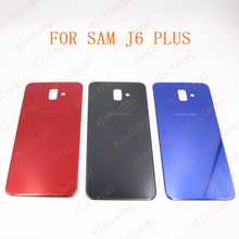 Electermi J6+J6 PLUS Back Housing Cover Battery Replacement Parts Real Door Case For Sam-sung Galax y J6 PLUS туфли galax galax ga016ambadr2