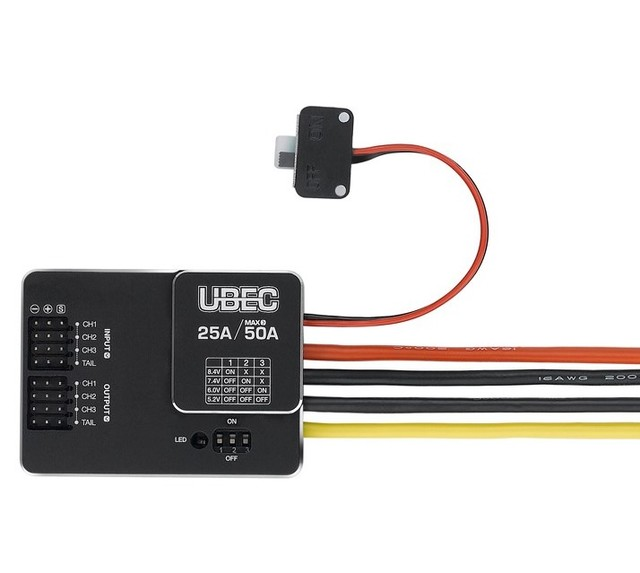 Original Hobbywing UBEC 25A HV 3 18S Module 25A External Switching for DIY FPV mini Racing Quadcopter Drone