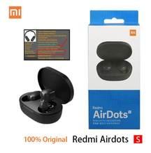Original xiaomi redmi airdots 2 tws fone de ouvido sem fio bluetooth 5.0 controle remoto microfone airdots s