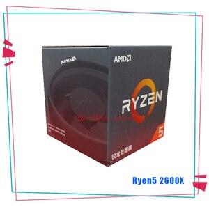 Image 2 - חדש AMD Ryzen 5 2600X R5 2600X3.6 GHz שש ליבות עשר חוט מעבד מעבד YD260XBCM6IAF שקע AM4 עם Cooler קירור מאוורר