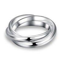 CAR003 Romantic Round cross Zirconia stone Circle Ring for women wedding Engagement Jewelry