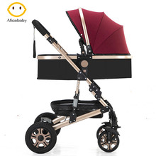 Belecoo Luxury Baby Stroller Carriage for Newborn and Toddler Convertible Bassin