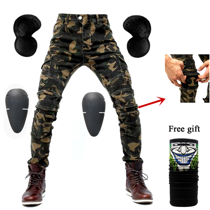 Motorcycle Jeans 2018 New Camouflage UBS-06 Jeans Men Protection Equipment Moto Pants UBS-06 Racing
