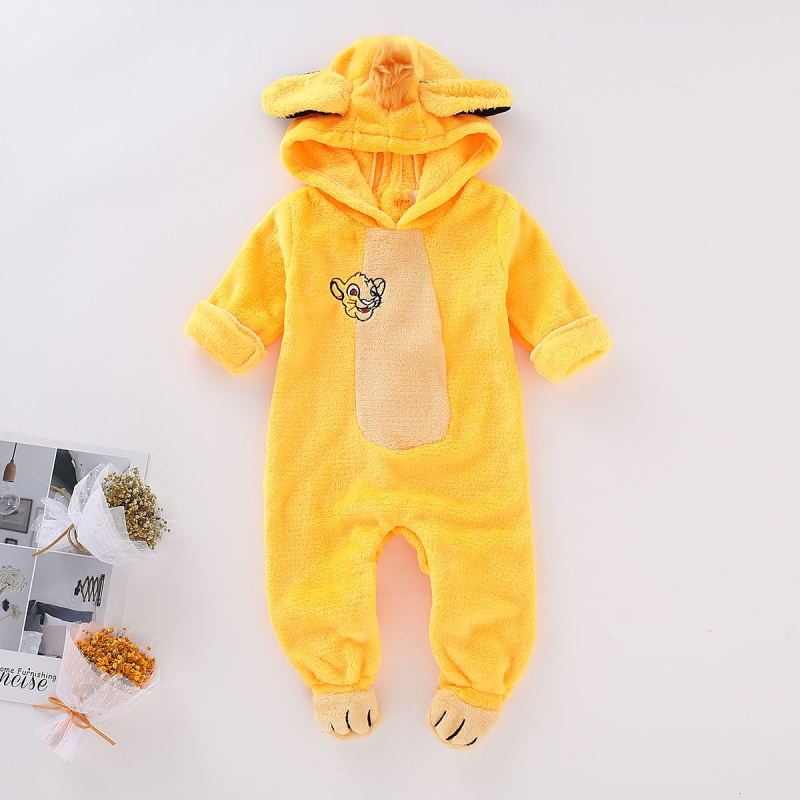 Baby Clothes 0-24M New Autumn Winter Jumpsuit Newborn Baby Boys Girls Clothes Infant Baby Warm Outwear Hoodie Pajamas Children