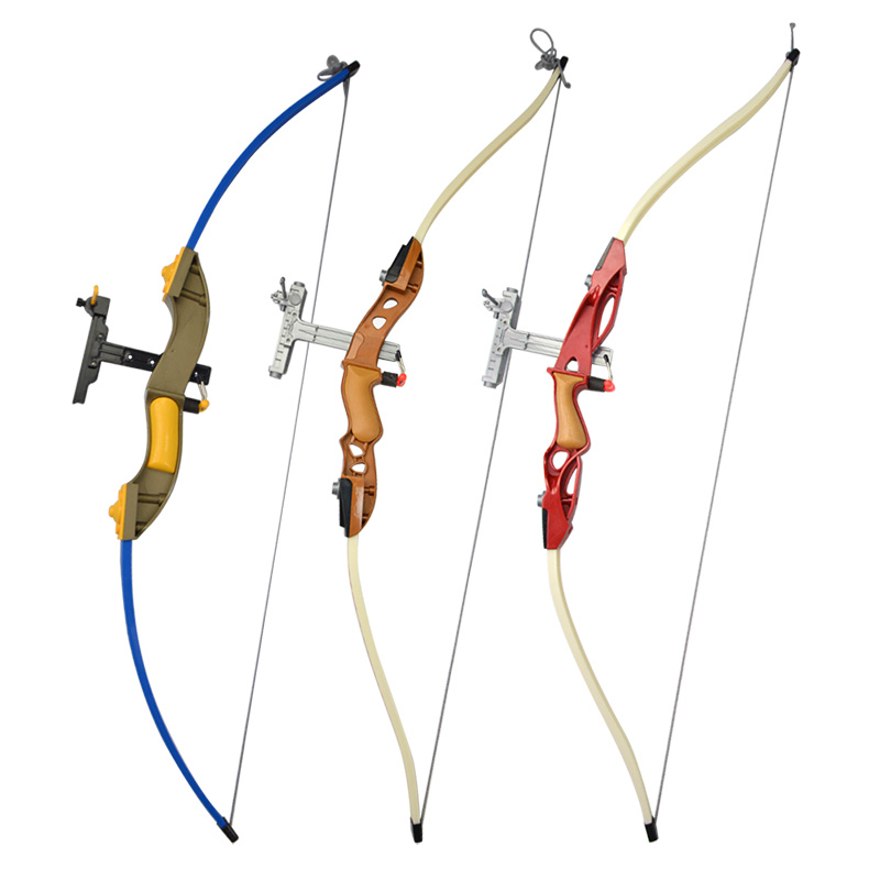 Children Outdoors Shooting Bows Arrows With Box Original Hunting Toys Soft Glue