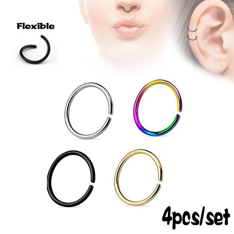 1pcs Ear Nose Lip Tongue Navel Eyebrow Piercing Plastic Forcep